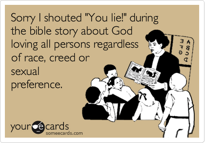 "Sorry I shouted ""You lie!"" during
