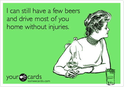 I can still have a few beers