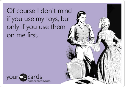 Of course I don't mind