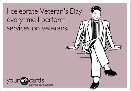 I celebrate Veteran's Day