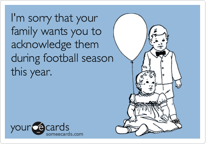 I'm sorry that your
