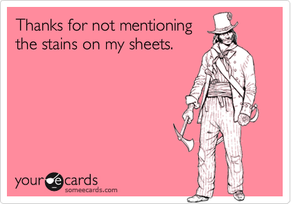 Thanks for not mentioning