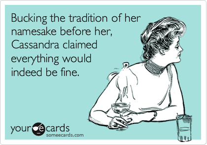 Bucking the tradition of her