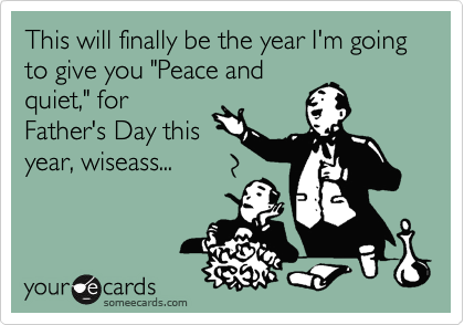 "This will finally be the year I'm going to give you ""Peace and