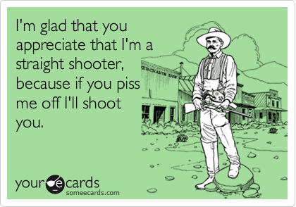 I'm glad that you
