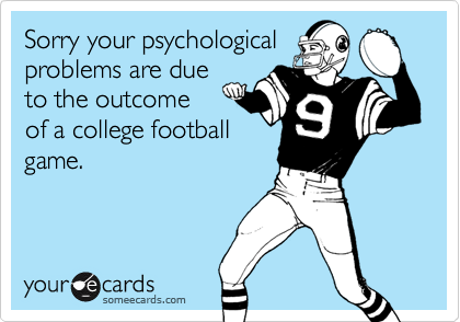 Sorry your psychological