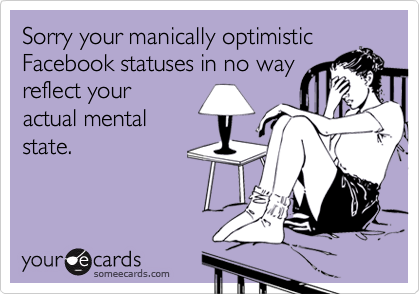 Sorry your manically optimistic