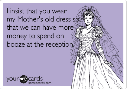I insist that you wear