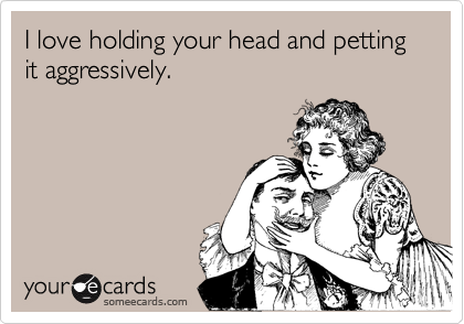I love holding your head and petting it aggressively.
