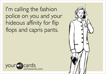 I'm calling the fashion