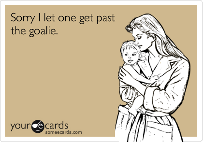 Sorry I let one get past