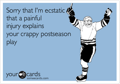 Sorry that I'm ecstatic