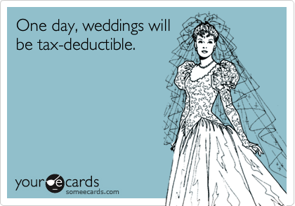 One day, weddings will