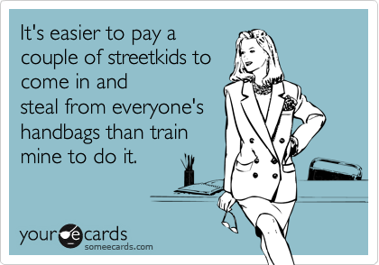 It's easier to pay a
