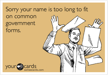 Sorry your name is too long to fit on common