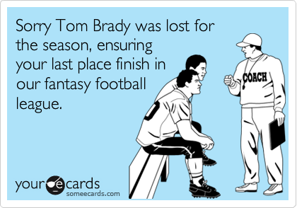 Sorry Tom Brady was lost for