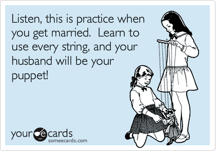 Listen, this is practice when