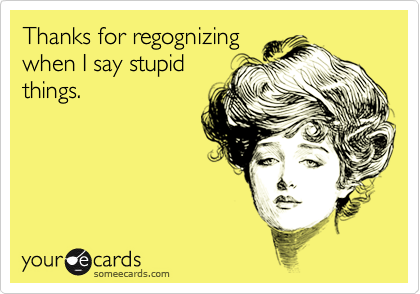 Thanks for regognizing