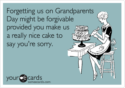 Forgetting us on Grandparents