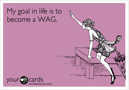 My goal in life is to become a WAG.