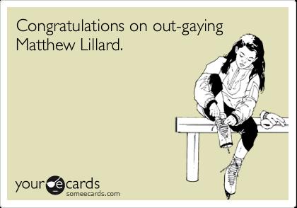 Congratulations on out-gayingMatthew Lillard.