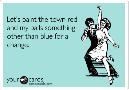 Let's paint the town red