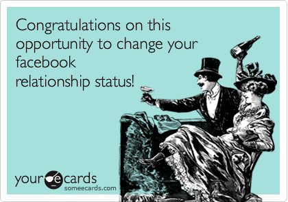 Congratulations on this opportunity to change your facebook