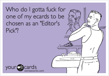 Who do I gotta fuck for