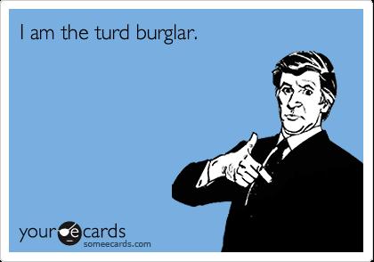 I am the turd burglar.