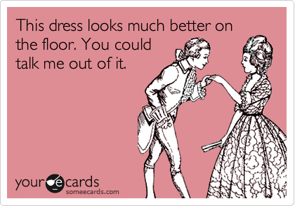 This dress looks much better on