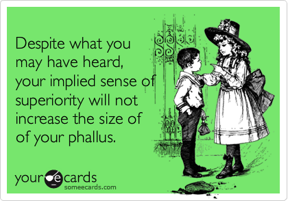 Despite what you