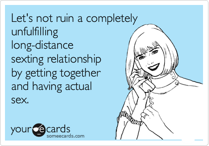 Long distance relationship and sexting