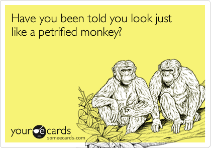 Have you been told you look just like a petrified monkey?