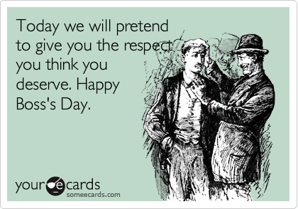 Today we will pretend