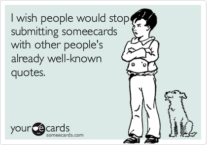 I wish people would stop