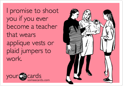 I promise to shoot