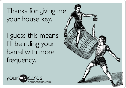Thanks for giving me