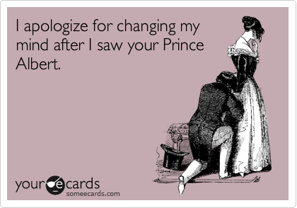 I apologize for changing my
