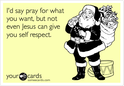 I'd say pray for what