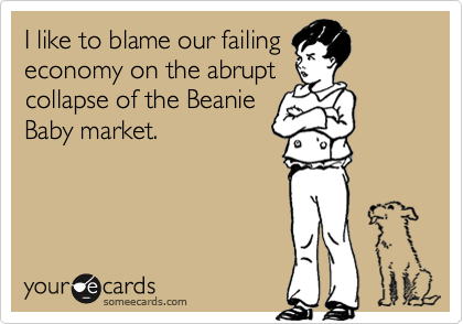 I like to blame our failing