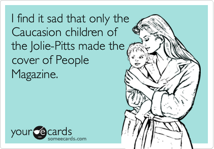 I find it sad that only the