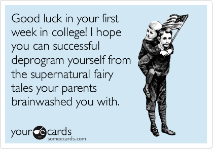 Good luck in your first