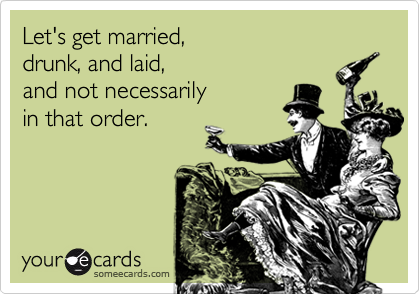 Let's get married, 