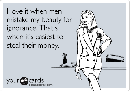 I love it when men