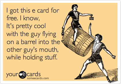 I got this e card for