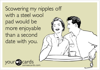 Scowering my nipples off 