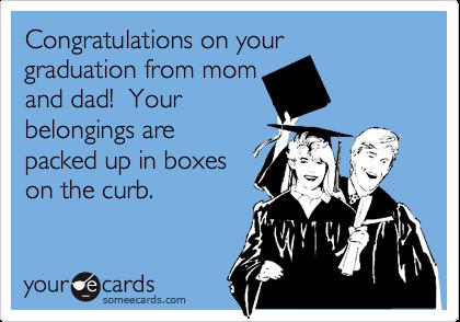 congratulations on your graduation