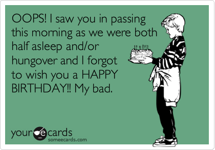 OOPS! I saw you in passing