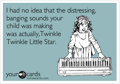 I had no idea that the distressing, banging sounds your