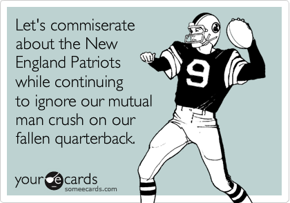 Let's commiserate